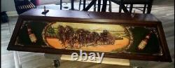 Vintage Budweiser Pool Table Light with 3-D Clydesdale Horses Extremely Rare