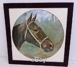 Vintage Dan Patch Harness Racing Champion Horse Lithograph Print Rare 155 Time