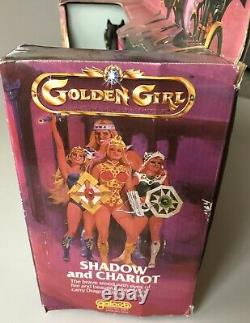 Vintage Golden Girl Shadow And Chariot 1984 New Old Stock Galoob Horse RARE