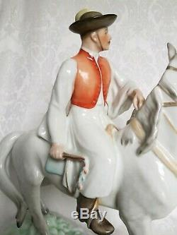 Vintage Herend Porcelain #5593 Man With Horse 16,5 Rare Gorgeous