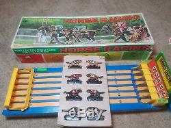 Vintage Horse Racing Game Shinsei Hong Kong Battery Operated withBox Antique Rare