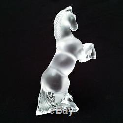 Vintage Lalique Rearing Horse Signed Retired Style RARE