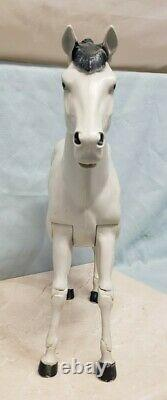Vintage MARX TOYS THE READY GANG White Horse DAGGER Action Figure 1970s RARE