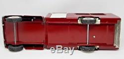 Vintage Maroon 1960's Pressed Steel Buddy L Riding Academy Horse Truck Rare