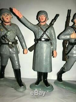 Vintage Marx 1963-64 Six Inch Wwii German Figures Set Of Four(4) Vary Rare