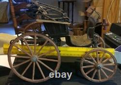 Vintage One Seat Horse Drawn Miniature Buggy RARE