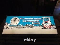 Vintage Purina Horse Chow Lighted Sign (RARE)