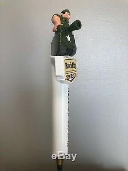 Vintage RARE Cavalry Br. Co. HATCH PLUG Full 3D Figural Tap Handle NEW Condition