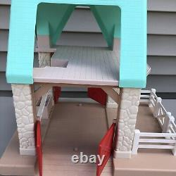 Vintage RARE Little Tikes Horse Stable Tractor, Fence, Horse, Colt