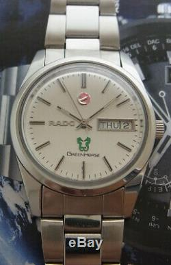 Vintage Rado Green Horse Day/date Automatic Swiss Made Watch. Nice&rare