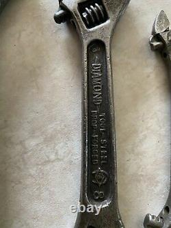 Vintage Rare Diamond Horse Shoe Co. Original Double Ended Adjustable Wrench
