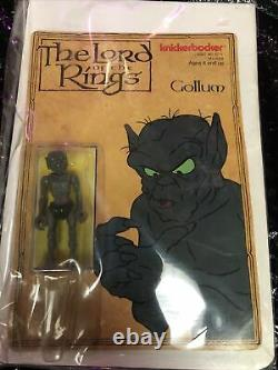 Vintage Rare Lord of the Rings Gollum Toy Action Figure Knickerbocker LOTR