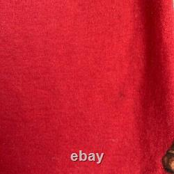 Vintage Rare Red Mens XL Polo Ralph Lauren Horse Jumping Large Print
