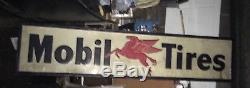 Vintage and RARE Mobil gas Pegasus horse sign 9 FEET great condition
