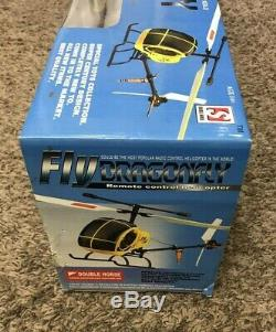 Vtg New Rare Fly Dragonfly Most Popular Rc Helicopter 2005 Red Double Horse